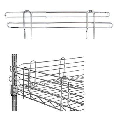 scaffali acciaio cromato spondine in acciaio cromato per scaffali e librerie in