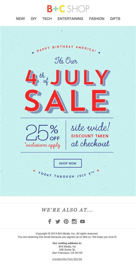 25 Best Ideas About 4th Of July Sales On Pinterest Fourth Of July Sales Independence Center Happy 4th Of July Email Template