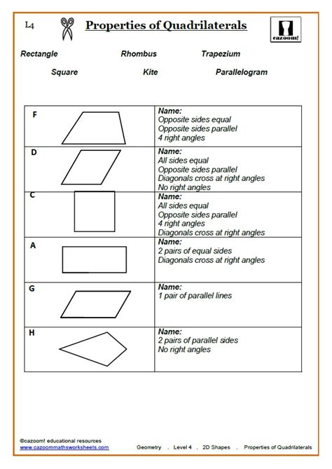 shapes worksheets ks3 ks3 ks4 2d shapes worksheets properties of 2d shapes