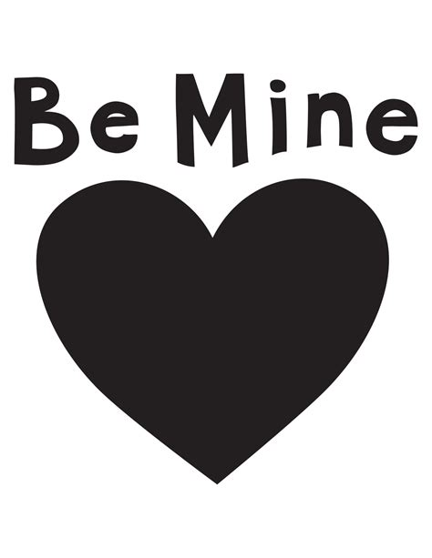 Be Mine Card Template by Be Mine Collage Moomah The Magazine