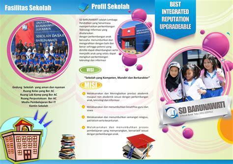 desain brosur video tempalte desain gratis download desain brosur sekolah dasar