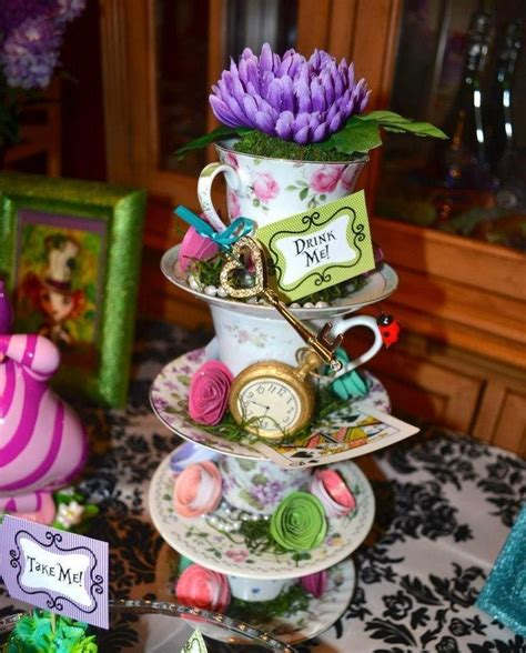 Mad Hatter Tea Party Decoration Ideas Tegan S Hens Mad Hatter Tea Centerpieces