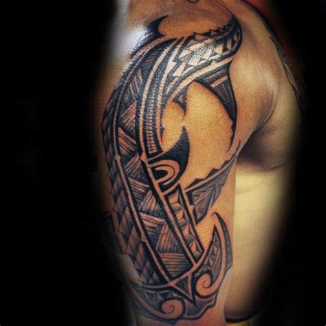 shark sleeve tattoo designs 50 tribal shark designs for sea dweller ideas