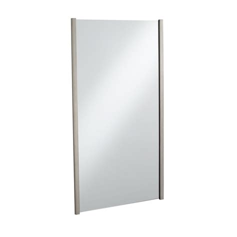 brushed nickel mirror bathroom shop kohler loure 33 25 in h x 18 75 in w vibrant brushed