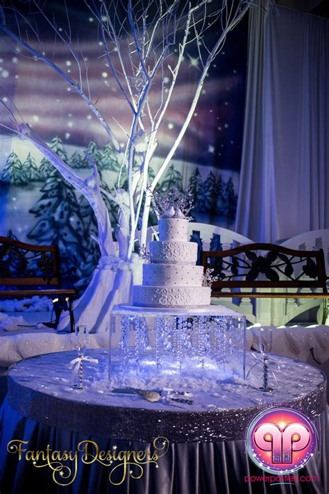vip quince in miami florida winter wonderland theme stage