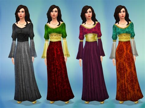 medieval sims 4 medieval times dress by nikova at mod the sims 187 sims 4