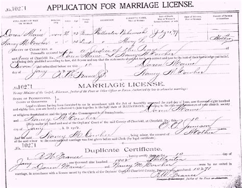 Hays County Marriage Records Clearfield County Pagenweb Archives Marriage Records