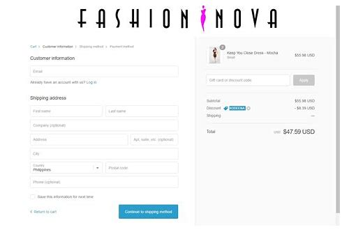 fashion nova coupons 35 off