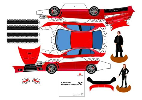 printable paper car template 9 best images of printable 3d paper crafts 3d owl