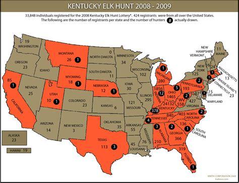 ky elk map elk in kentucky