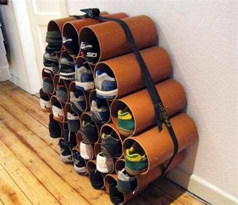 Pipe Shoe Rack by How To Build A Low Cost Shoe Rack Using Pvc Pipes