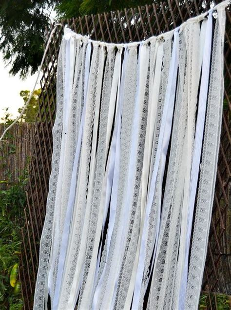 Wedding Lace Backdrop by Ivory White Lace Fabric Ribbon Backdrop Curtain Wedding