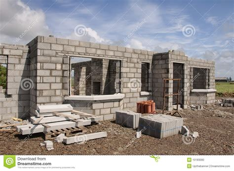 newly built new build concrete stone house stock photo image of