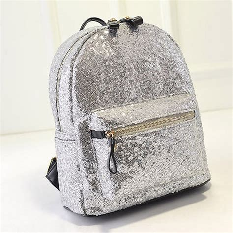 Fashion Tas Backpack Hello White sequin backpack