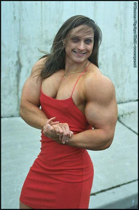 herbc bigmusclegirls huger muscle woman blue eyes