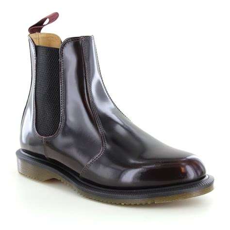 dr martens flora womens leather pull on chelsea boots