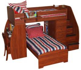 Bunk Bed With Stairs And Desk Bunk Bed Plans With Stairs And Slide 187 Woodworktips