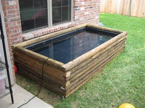 Secure Landscape Timbers Ground Small Above Ground Ponds You Can Go With A Wood Pond Out