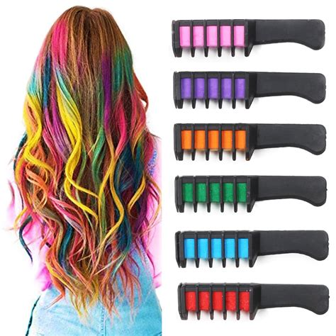 washable hair color temporary hair chalk comb washable hair color comb