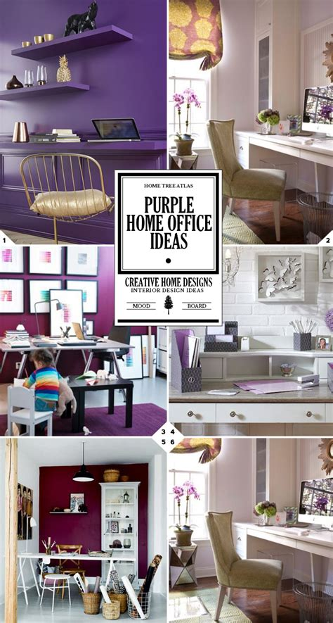 Home Office Design Guide Color Style Guide Purple Home Office Ideas Home Tree Atlas