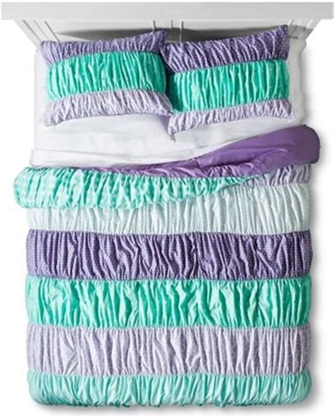 purple ruched comforter don t miss this deal on ruched comforter set pillowfort