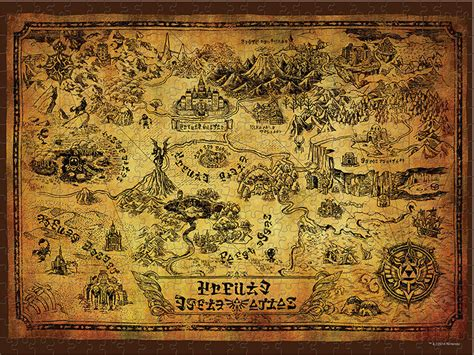 Legend Of Zelda Map Puzzle   the legend of zelda collector s puzzle puzzle usaopoly