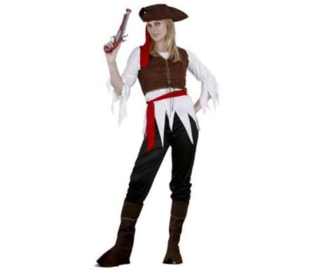 imagenes mujeres piratas disfraz mujer pirata caribe talla m