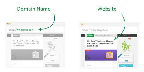 whats  difference   website   domain