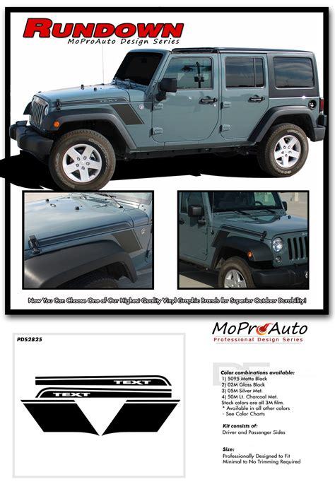jeep vinyl decals rundown jeep wrangler hood to fender vinyl graphics