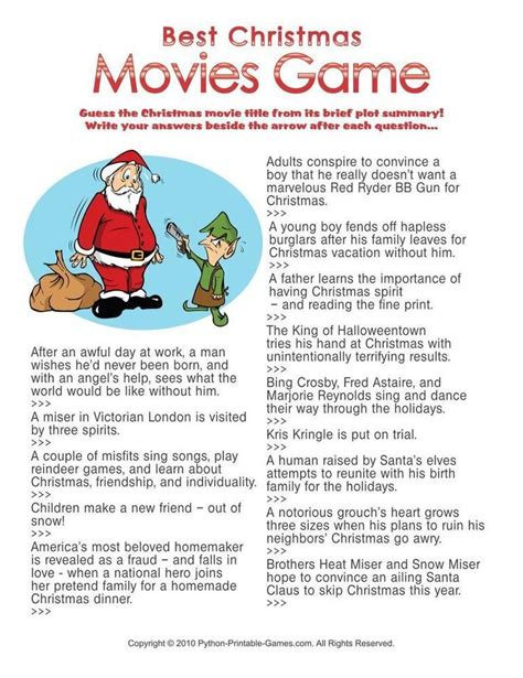 printable christmas movie quiz 171 best games images on pinterest birthdays game and