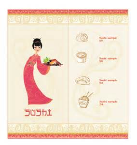 japanese menu template vector japan sushi menu templates 03 vector cover