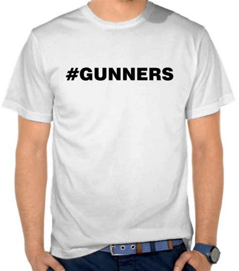 Kaos Arsenal Gunners Underground Putih jual kaos arsenal hastags gunners liga inggris
