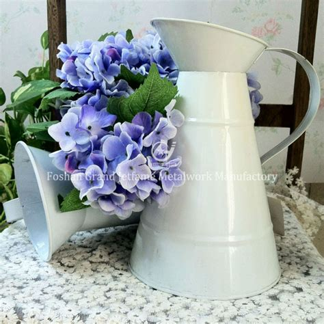Garden Decor Powder Coated White Small Metal Jug Buy Buy Garden Decor
