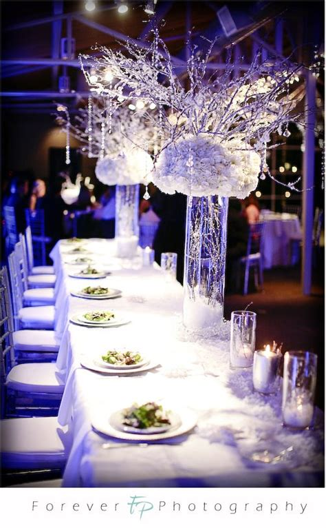 winter wedding table decorations wedding decorations - Winter Wedding Table Decor