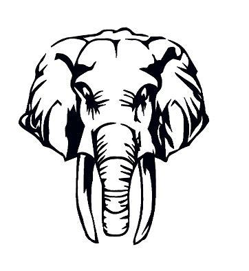 Tete Elephant Profil by Elephant Silhouette Profile