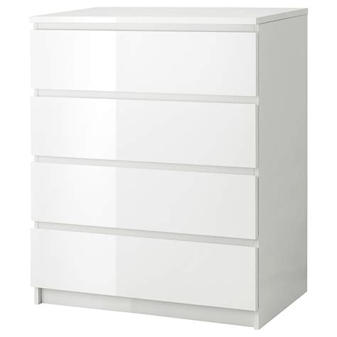 ikea cassettiera comodini ikea malm chest of 4 drawers 80x100cm white high gloss