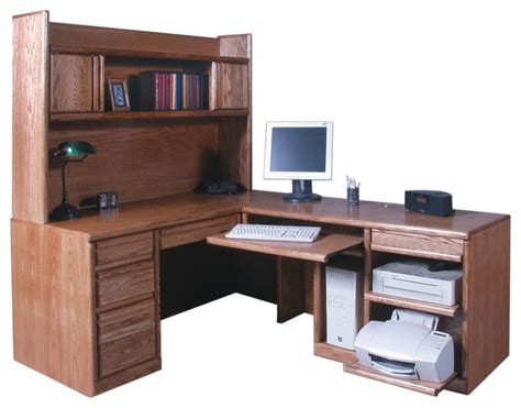 Desk With Return And Hutch Traditional Desk And Return With Hutch Traditional Desks Writing Bureaus By Oak Arizona