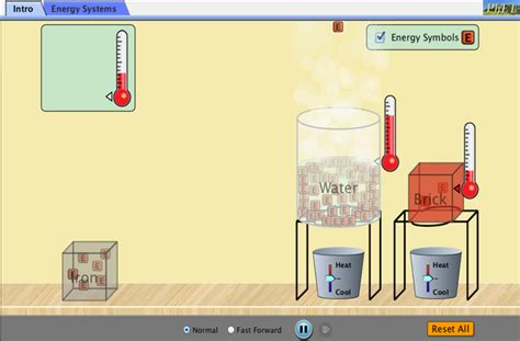 energy forms   energy conservation  energy energy systems phet interactive