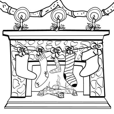 coloring page christmas fireplace coloring christmas fireplace child coloring