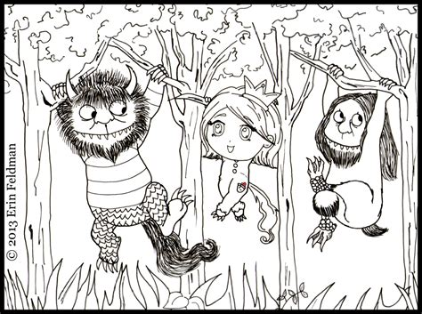 where the wild things are coloring pages for kids and