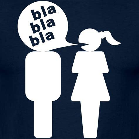 Bla Bla Bla mann bla bla bla frau t shirt spreadshirt