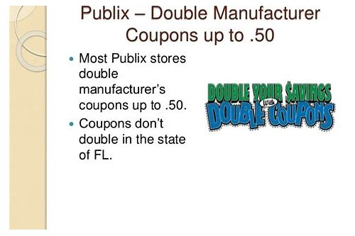publix double coupons florida