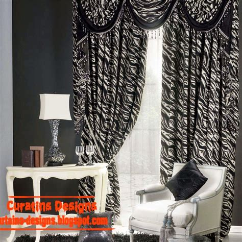 in a white room with black curtains black and white curtains top 10 designs of black and