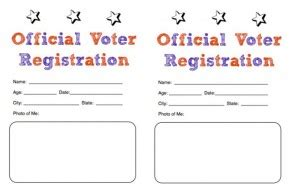 Voter Registration Card Template by Election Day Craft Voter Registration Card For