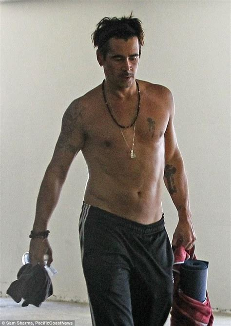 Got something to get off your chest? Colin Farrell seems to have lost a little muscle tone as he