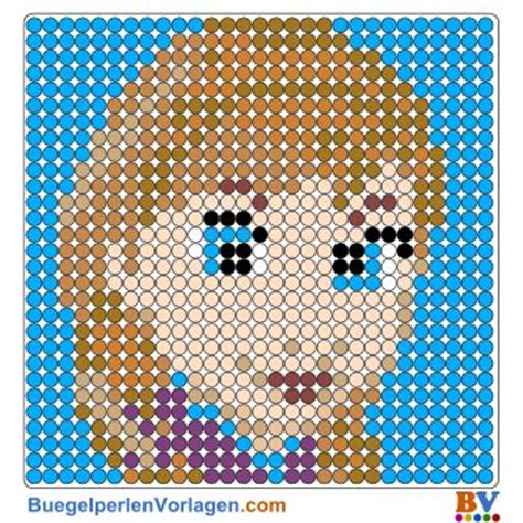 hama bead template printable b 252 gelperlen vorlage frozen perler pattern basteln