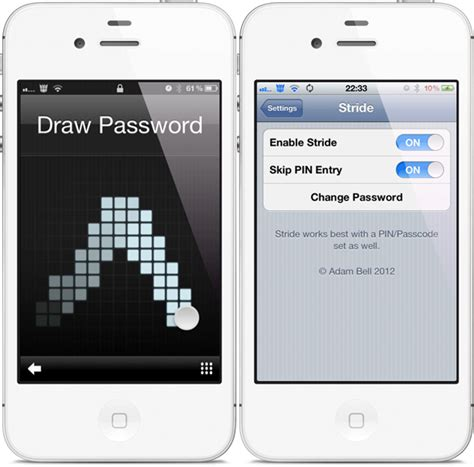pattern password ipod touch stride for ios brings gesture based lock screen to iphone