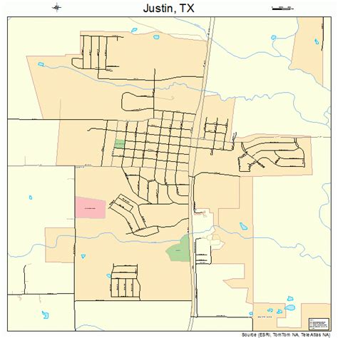 justin texas map justin texas map 4838332