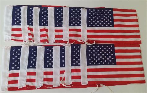 lot 12 american flags car motorcycle antenna flag wholesale small flags hemmed ebay