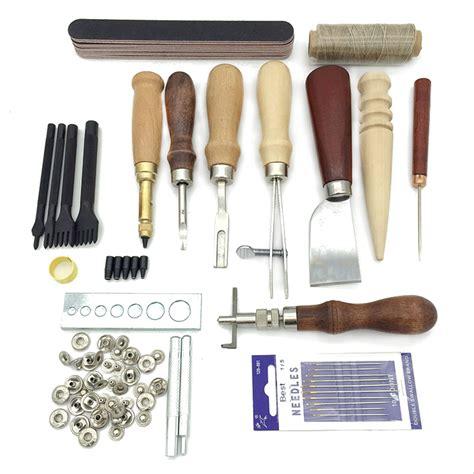 Alat Diy Kulit Leathercraft Punches Stitching Tool 1 2 4 6 Prong á 19pcs leather craft punch î kit kit stitching carving working sewing ã ã saddle saddle groover
